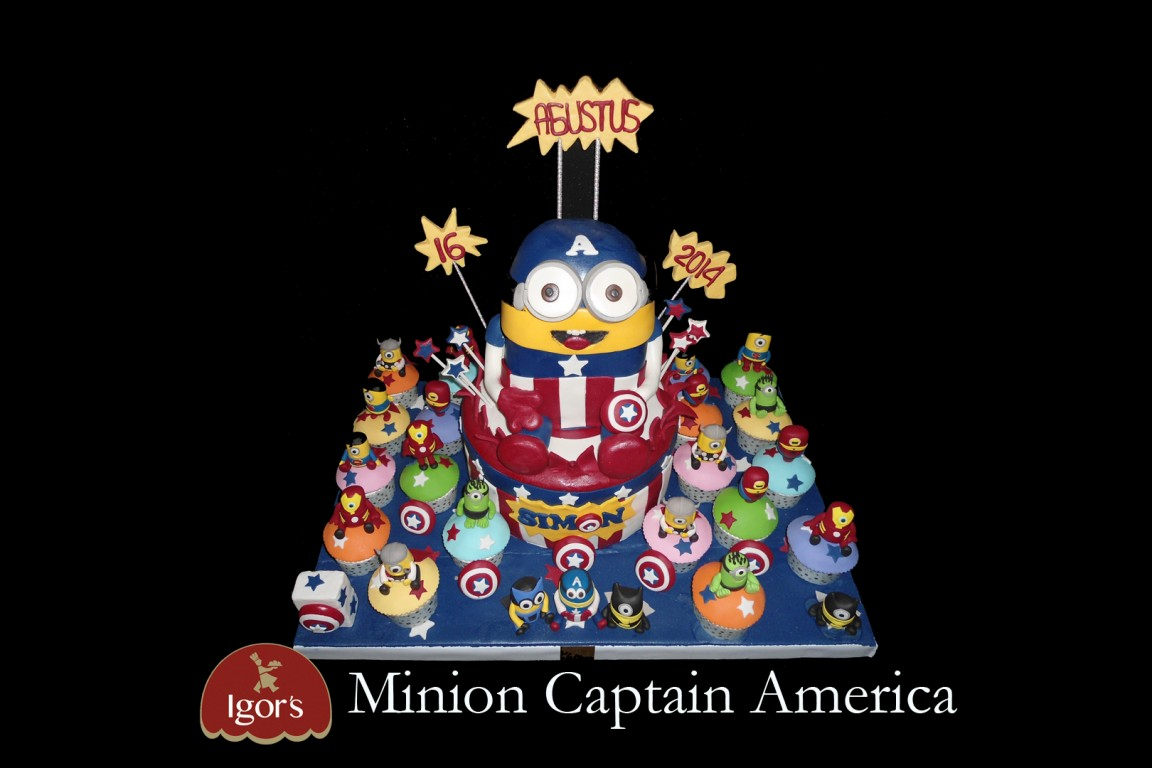 Minion Captain America - Igor's Pastry products
