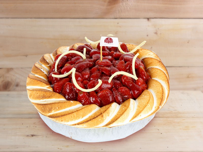 Strawberry Cheese Pie - Igor's Pastry products