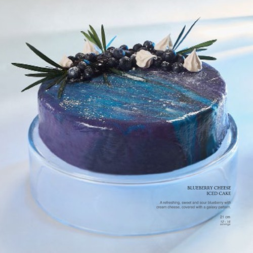 Blueberry Cheese Iced Cake - Igor's Pastry & Cafe | The Best Fine Pastry in Surabaya products